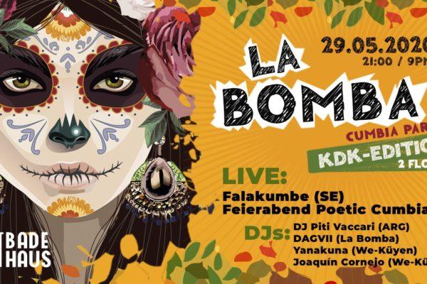 VERLEGT: La Bomba w. Falakumbe & Feierabend Poetic Cumbia